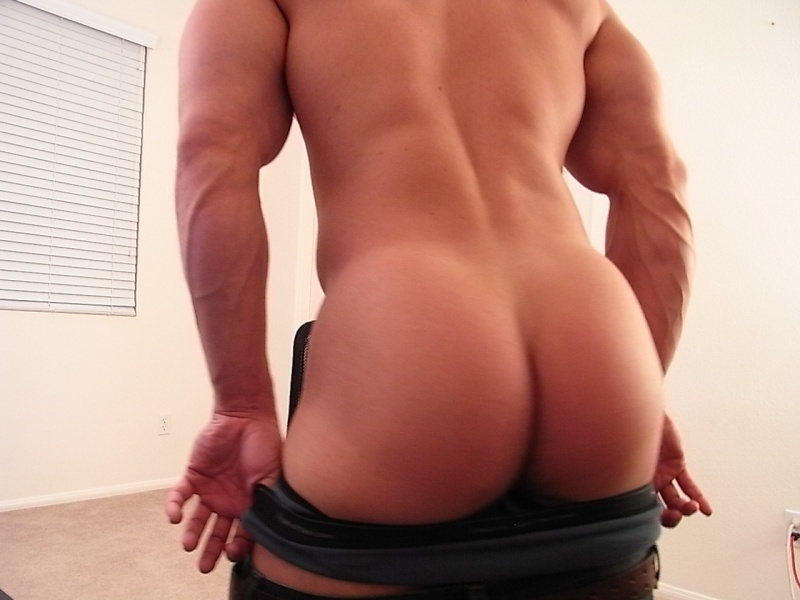 Men butt half naked